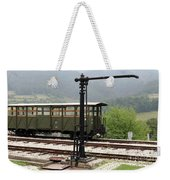 Old Railway Station With Wooden Wagon Weekender Tote Bag