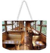 Old Railway Wagon Interior Vintage Weekender Tote Bag