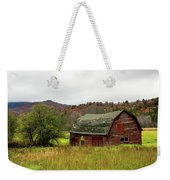 Old Red Adirondack Barn Weekender Tote Bag by Nancy De Flon