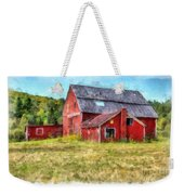 Old Red Barn Abandoned Farm Vermont Weekender Tote Bag