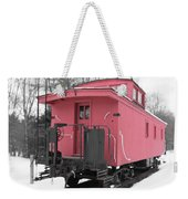 Old Red Caboose Square Weekender Tote Bag