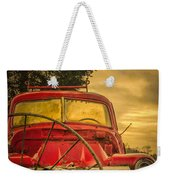 Old Red Truck Weekender Tote Bag