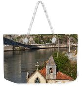 Old Riverside Church In Portugal Weekender Tote Bag