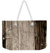 Old Rustic Black And White Barn Woord Door Weekender Tote Bag