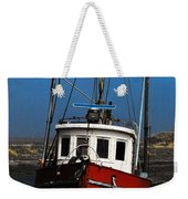 Old Rustic Red Fishing Boat Weekender Tote Bag