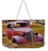 Old Rusty Car Bodie Ghost Town Weekender Tote Bag