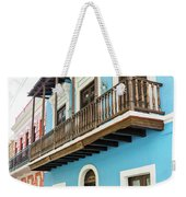 Old San Juan Houses In Historic Street In Puerto Rico Weekender Tote Bag