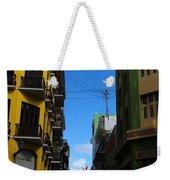 Old San Juan Puerto Rico Downtown On The Corner Weekender Tote Bag