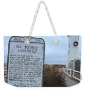 Old Scituate Lighthouse Weekender Tote Bag