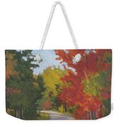 Old Scoolhouse Road Fall - Art By Bill Tomsa Weekender Tote Bag