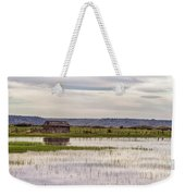 Old Shed On Marsh Weekender Tote Bag