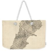 Old Sheet Music Map Of Lebanon Weekender Tote Bag