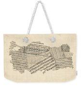 Old Sheet Music Map Of Turkey Map Weekender Tote Bag
