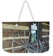 Old Spinning Wheel Weekender Tote Bag
