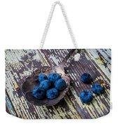 Old Spoon And Blueberries Weekender Tote Bag