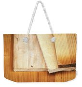 Old Spruce Boards On Top Of Each Other Weekender Tote Bag