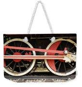 Old Steam Locomotive Iron Rusty Wheels Weekender Tote Bag
