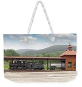 Old Steam Locomotive On Railway Station Weekender Tote Bag