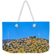 Old Stone Church And Green Energy Plant Weekender Tote Bag