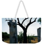 Old Stones In Old Cementery Weekender Tote Bag