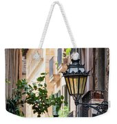 Old Street Light In Barcelona, Spain Weekender Tote Bag