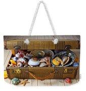 Old Suitcase Full Of Sea Shells Weekender Tote Bag