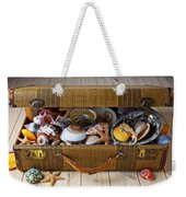 Old Suitcase Full Of Sea Shells Weekender Tote Bag by Garry Gay