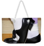 Old Tap Dance Shoes With White Socks And Wooden Floor Weekender Tote Bag
