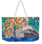Old Tiger Drinking Weekender Tote Bag