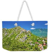 Old Town Knin On The Rock View Weekender Tote Bag