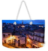 Old Town Of Porto In Portugal At Dusk Weekender Tote Bag