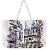 Old Town Square In Prague Weekender Tote Bag