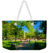 Old Town Square Santa Fe Weekender Tote Bag