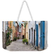 Old Town Street In Villefranche-sur-mer Weekender Tote Bag