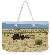 Old Tractor And Rake In New Mexico Weekender Tote Bag