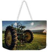 Old Tractor In The Field Outside Of Keene Nh Weekender Tote Bag by Edward Fielding