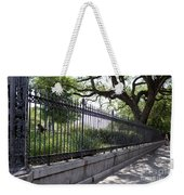 Old Tree And Ornate Fence Weekender Tote Bag