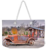 Old Truck And Gas Filling Station Weekender Tote Bag