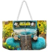 Old Truck At The Winery Weekender Tote Bag