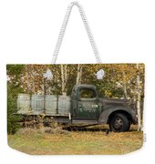 Old Truck With Potato Barrels Weekender Tote Bag