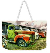 Old Trucks In A Row Weekender Tote Bag