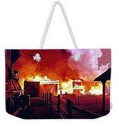 Old Tucson Arizona In Flames 1995  Weekender Tote Bag