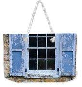 Old Village Window With Blue Shutters Weekender Tote Bag