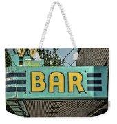 Old Vintage Bar Neon Sign Livingston Montana Weekender Tote Bag