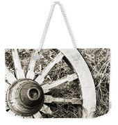 Old Wagon Wheel Weekender Tote Bag