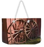 Old Wagon Wheels Weekender Tote Bag