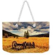 Old Wagons In Meadow Weekender Tote Bag