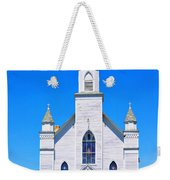 Old Weathered Church On Hill Top Weekender Tote Bag