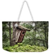 Old Weathered Worn Bird House In Summer Weekender Tote Bag