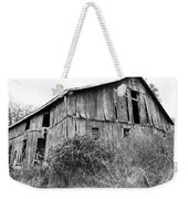Old West Virginia Barn Black And White Weekender Tote Bag